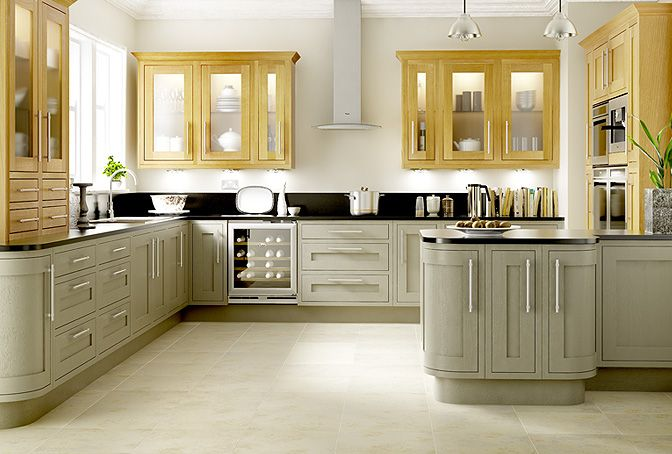Carisbrooke Taupe Kitchen- I Like It With The Light