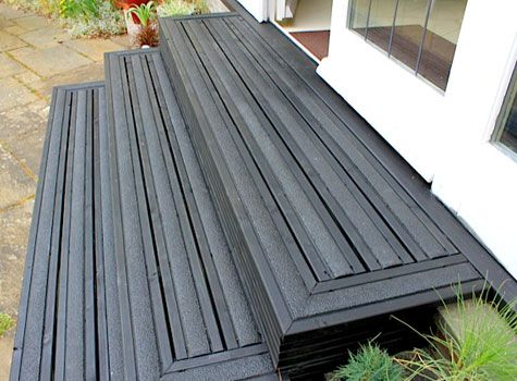 7 Slippery Steps Now Non Slip With Decking Strips A Few Things Pinterest Decking