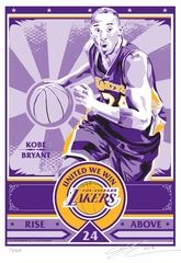 Limited Edition Handmade Screen Print On Paper Featuring Kobe Bryant Of The La Lakers Limited Edition Of 250 Eac With Images Lakers Kobe Bryant Kobe Bryant Lakers Kobe