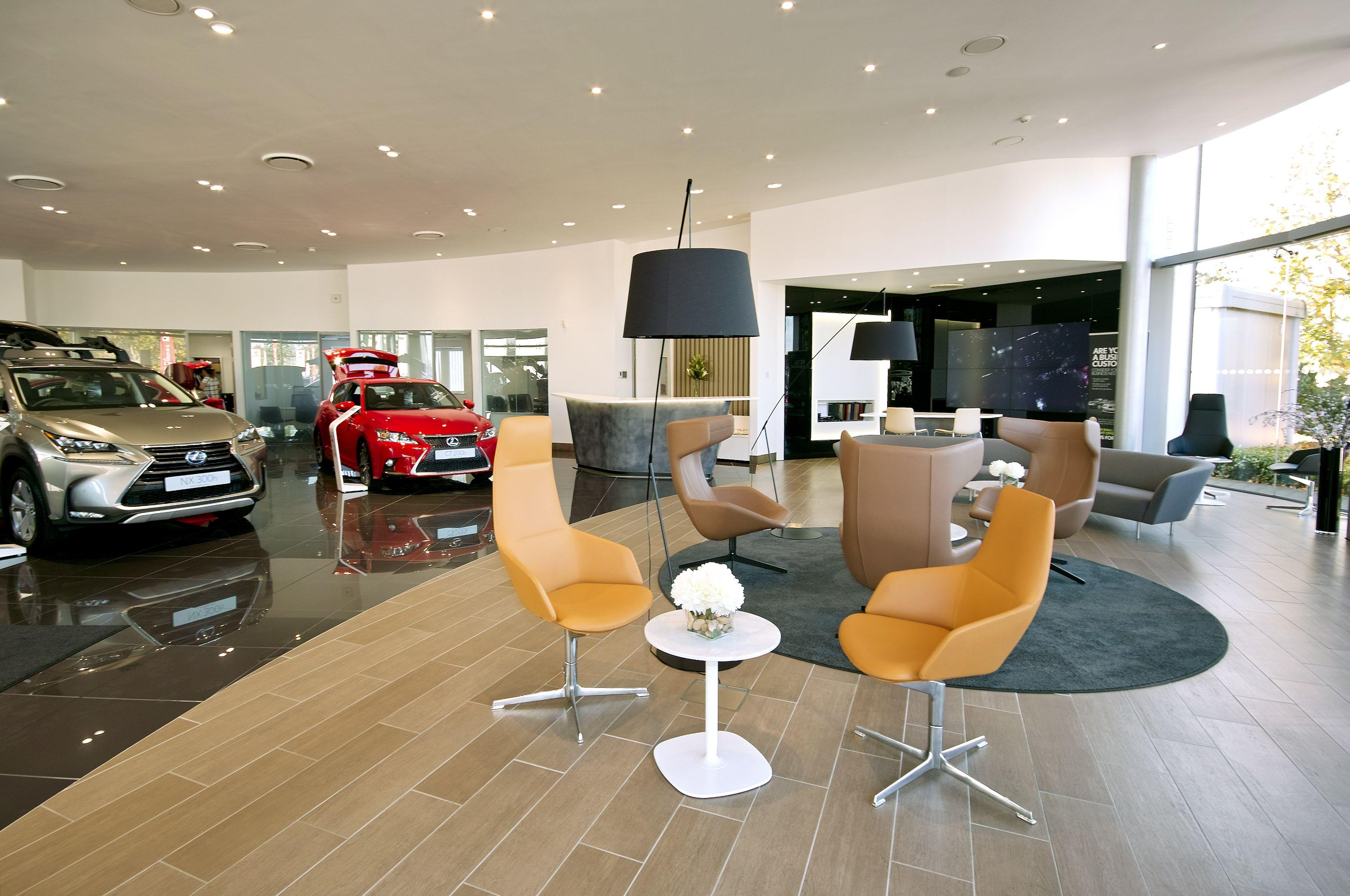 Internal Refurbishment Showroom And Office Car Showroom Interior