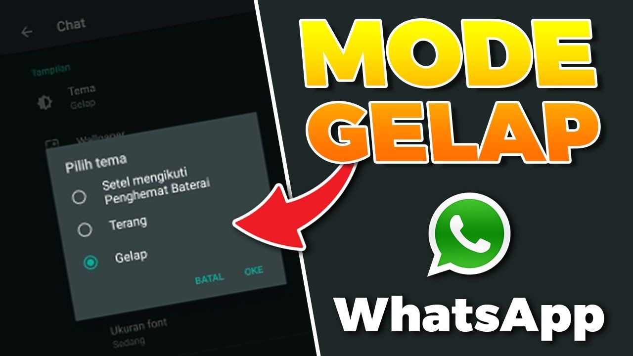 Mengubah Whatsapp Jadi Mode Gelap Dark Mode Di 2020 Gelap Pengikut Pengukur