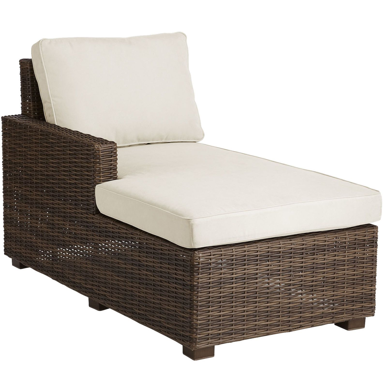 Echo Beach Latte Left Arm Facing Chaise Lounge Modern