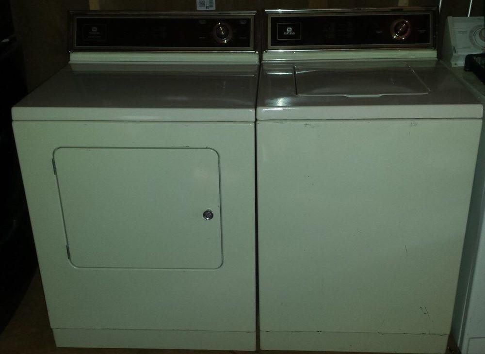 Vintage Maytag Washer M La112 Electric Dryer M Lde412 Electric Dryers Maytag Washers Vintage Appliances