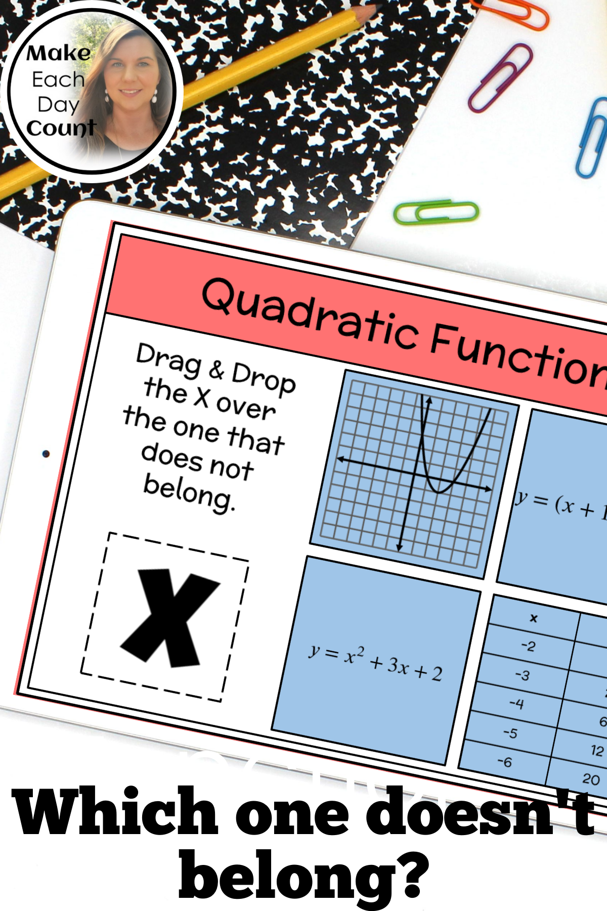 Quadratic Functions Which One Doesn T Belong In