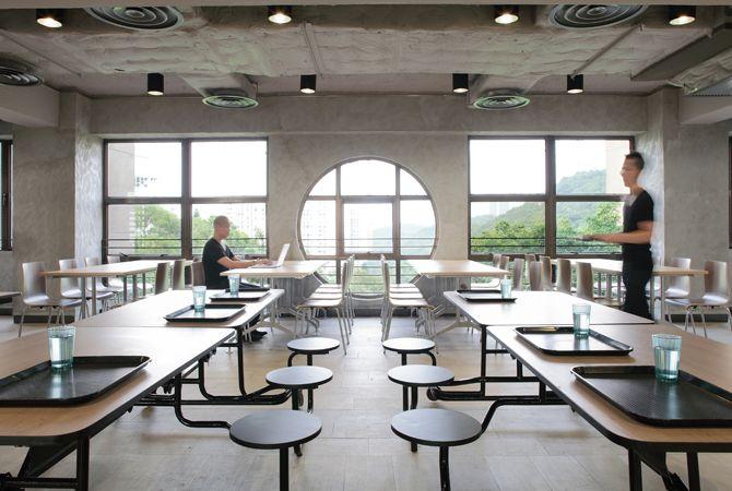 school cafeteria design #canteen Chinese style Pinterest - designer kantine spiegel magazin