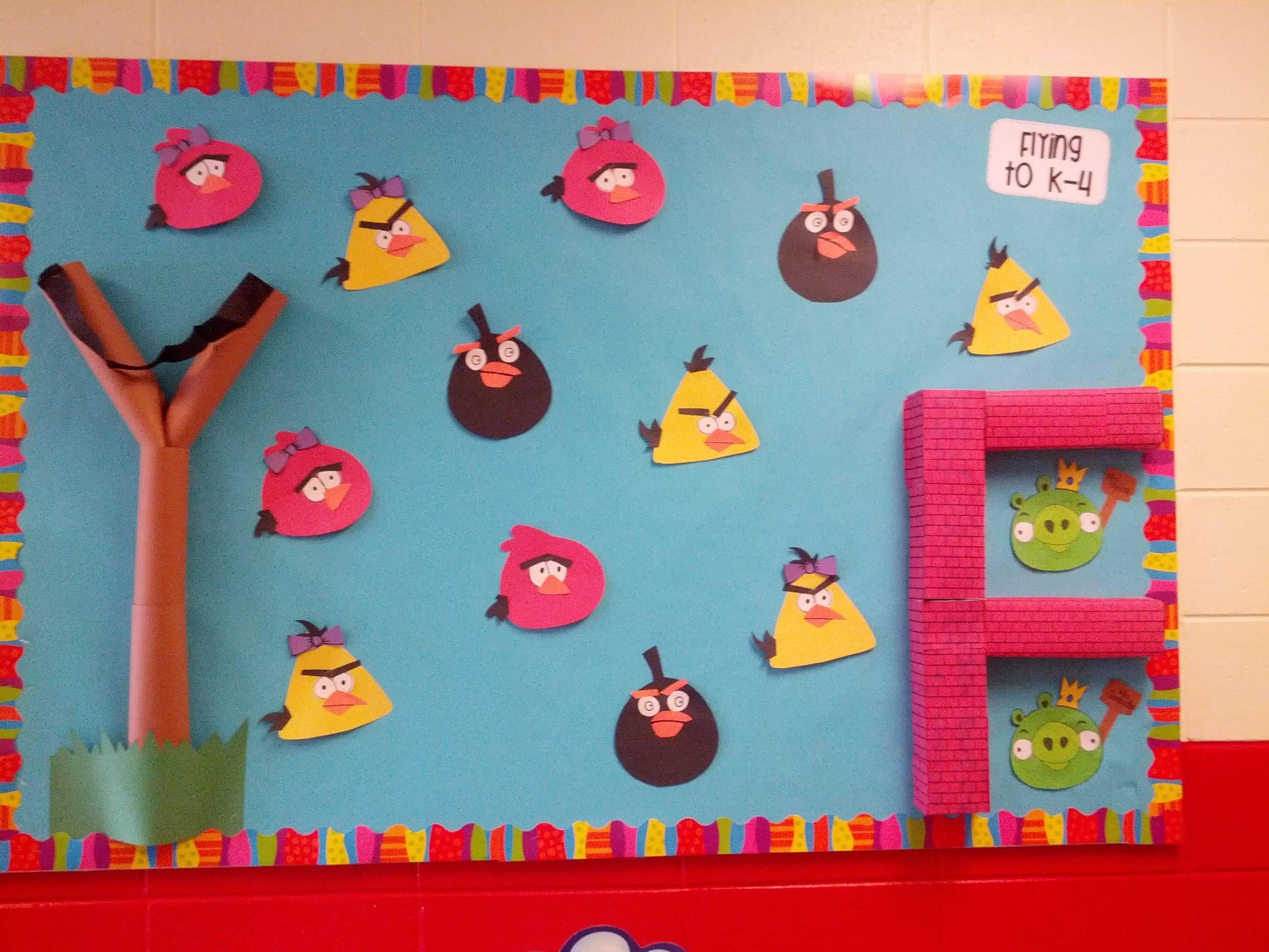 Classroom Ideas With Birds : D angry bird bulletin board flying to k monica