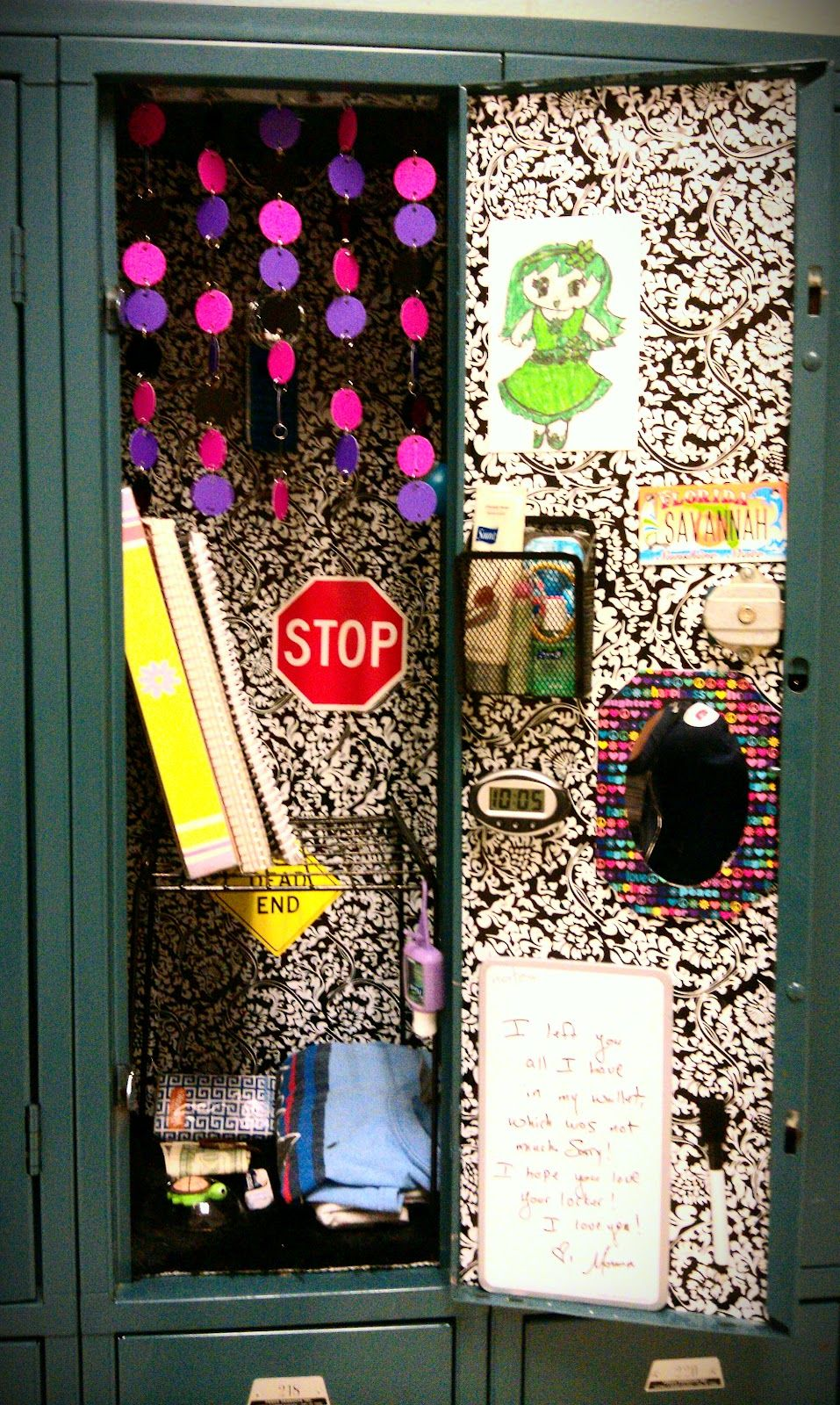 "Locker ""Wallpaper"" On the Cheap! Contact Paper Locker"