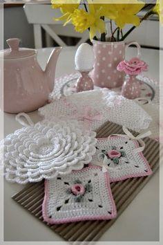 Uncinetto Shabby.Presine Shabby All Uncinetto Crochet Decoration Crochet Home Selling Crochet