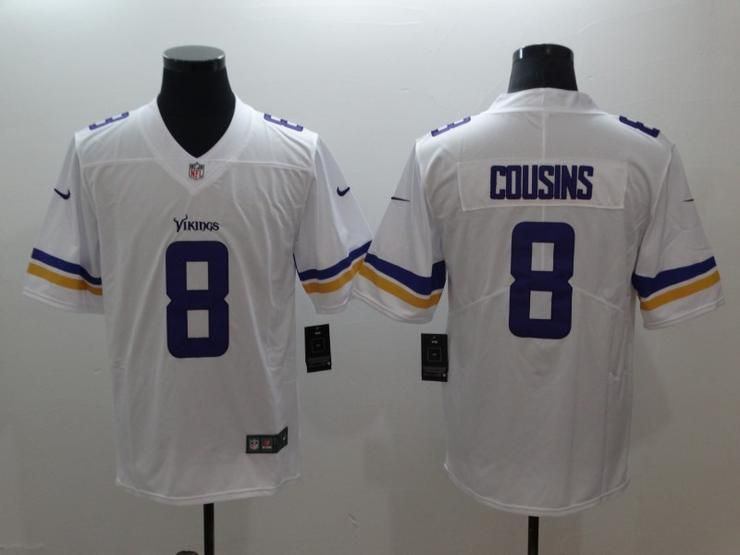 Men 8 Cousins Jersey Football Minnesota Vikings Jersey  97e720edd