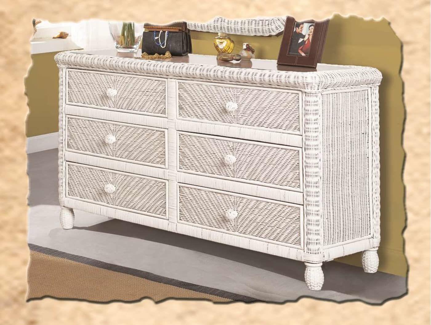 Sea Winds Trading Santa Cruz White 6 Drawer Dresser B57936 White Goedekers Com White Wicker Wicker Furniture Wicker Bedroom [ 1055 x 1400 Pixel ]