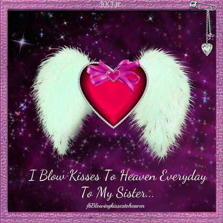 To My Dear Sister Send You All My Love And Kisses