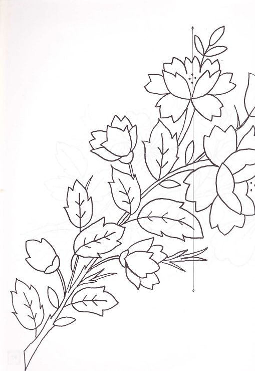 motiv ruža za vez | Pun vez i richelieu | Pinterest