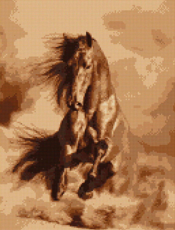 BLACK Stallion # 2-cross stitch chart