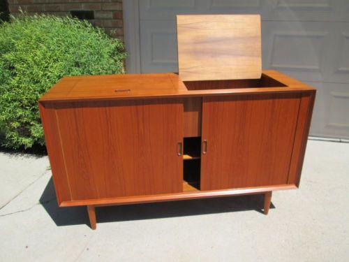 Genial Vintage Mid Century Danish Modern Arne Vodder Credenza Sideboard Stereo  Cabinet