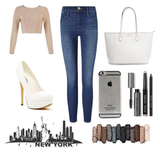 """""""Day out 43"""" by issy-phillips ❤ liked on Polyvore featuring Frame Denim, Michael Antonio, Bobbi Brown Cosmetics and Urban Decay"""