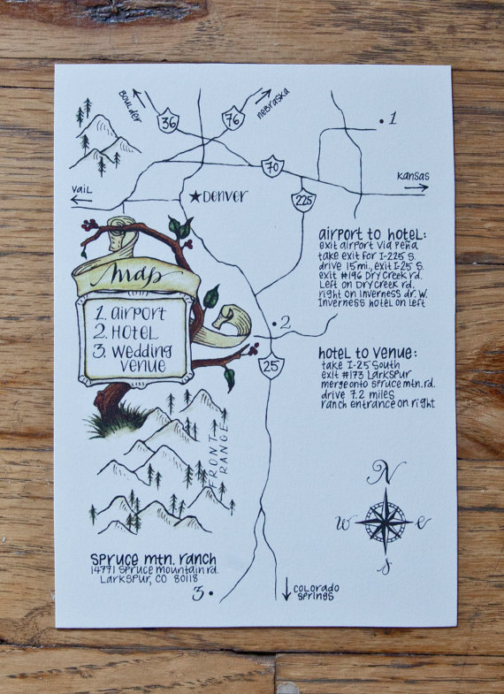 Custom illustrated map - hand-drawn/painted map with ... on find directions, dress directions, wind directions,