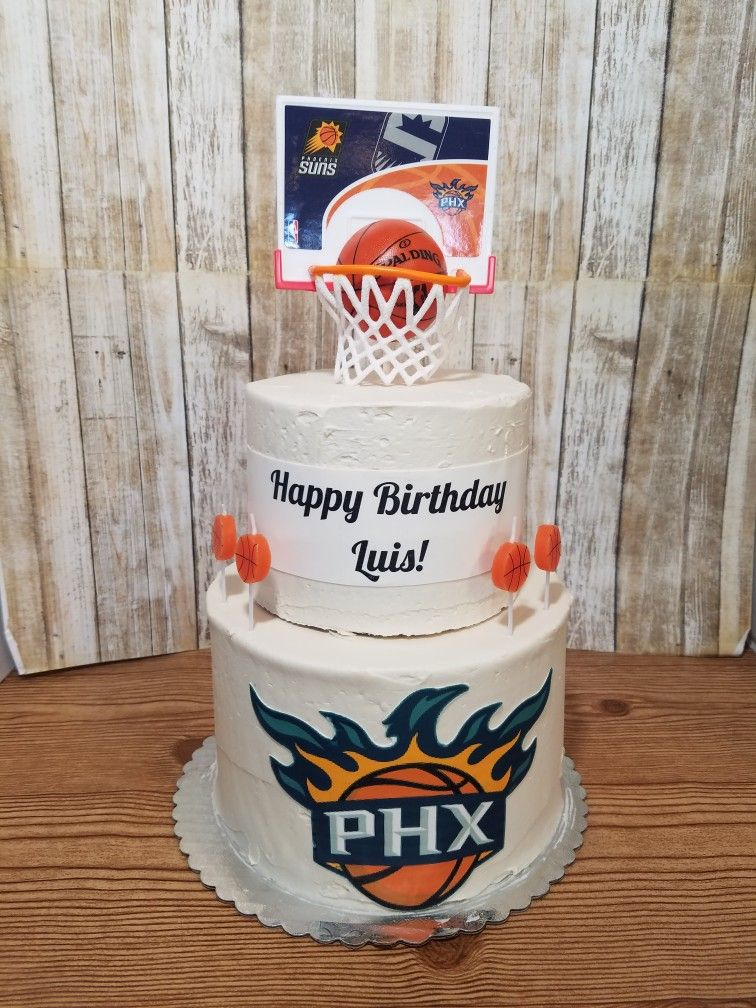 Outstanding Phoenix Suns Birthday Cake 6 8 With Images Sun Cake Baby Funny Birthday Cards Online Barepcheapnameinfo