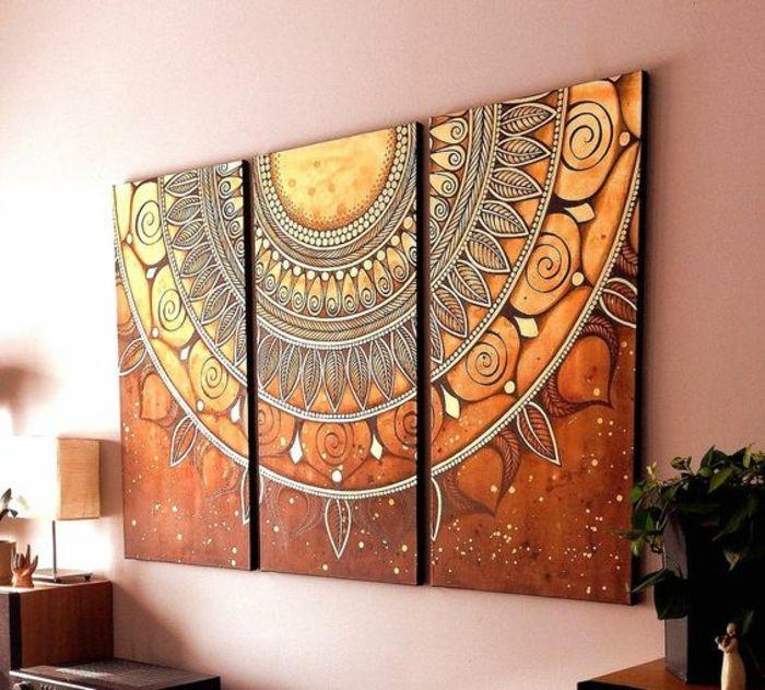 Great orientalische h ngelampen dekorationen f r die moderne wohnunf orange mandala dekoration wanddeko bilder