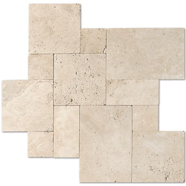 Ivory Tumbled Versailles Pattern Travertine Pavers Versailles Pattern Country Floors Of America Llc Travertine Pavers Versailles Pattern Travertine