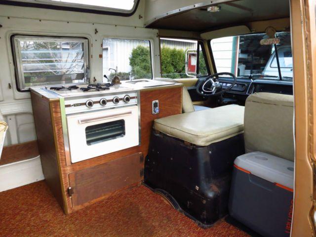 1969 Dodge A100 Sportsman Travco Family Wagon Camper Van Very Rare For S Dodge Camper Van Vintage Camper Trailers Interior Vintage Camper Interior Renovation