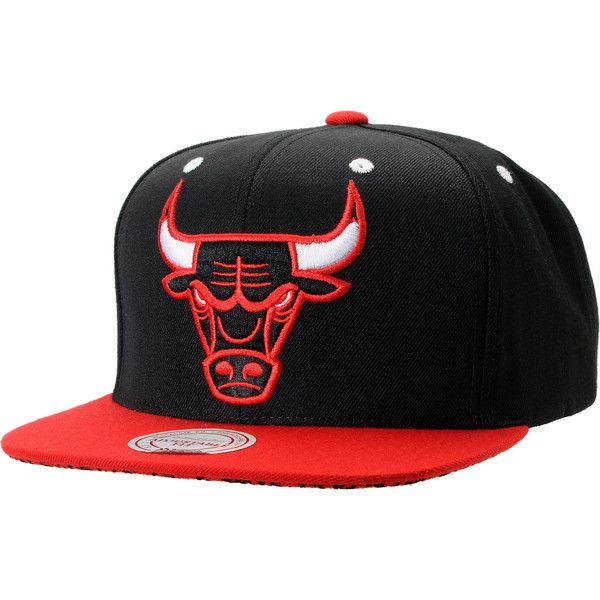 056be5396f2 NBA Mitchell and Ness Chicago Bulls Black Crackle Snapback Hat ( 26) ❤  liked on Polyvore