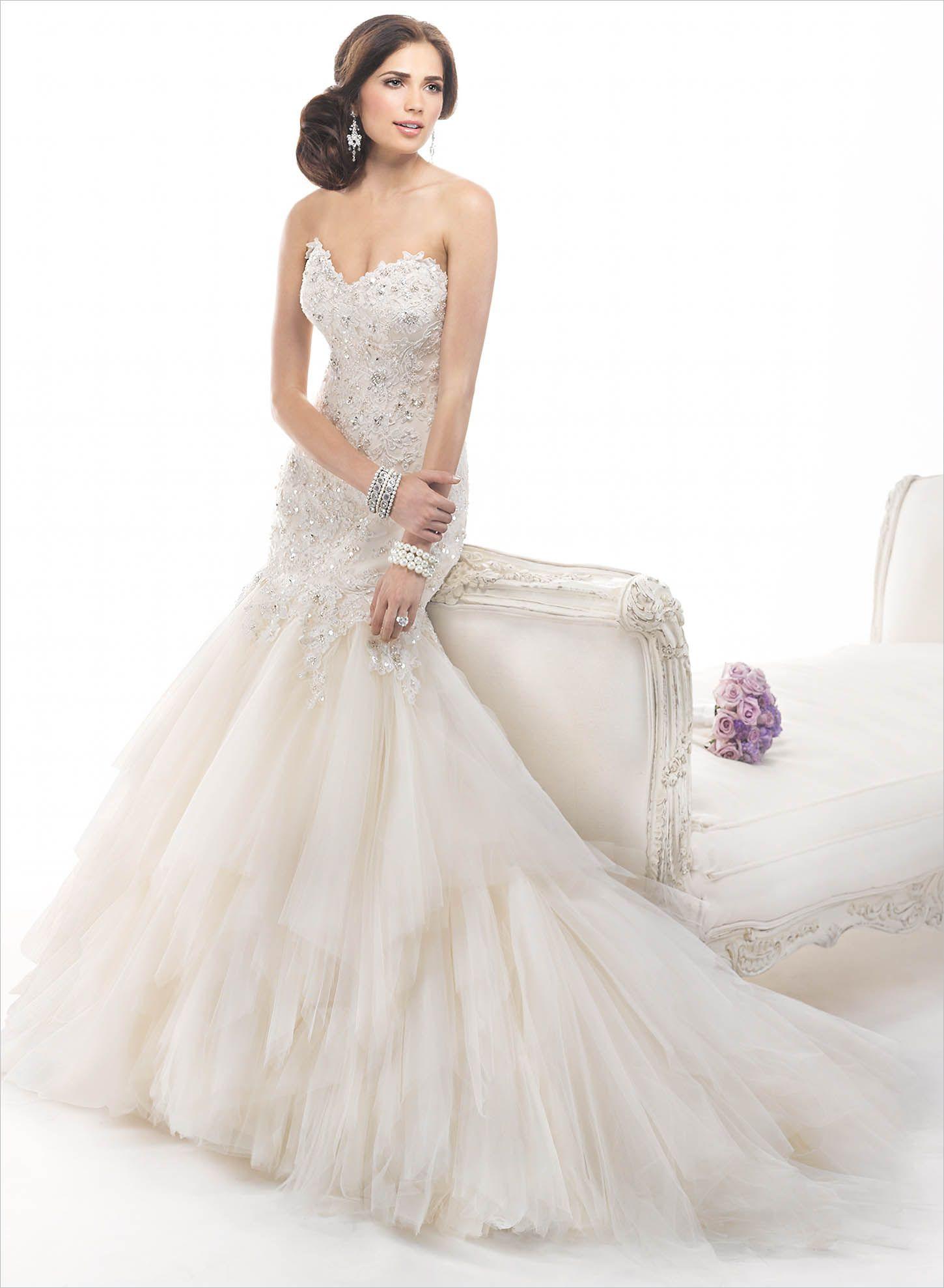Contemporary Maggie Sottero Wedding Gown Festooning - Wedding Dress ...