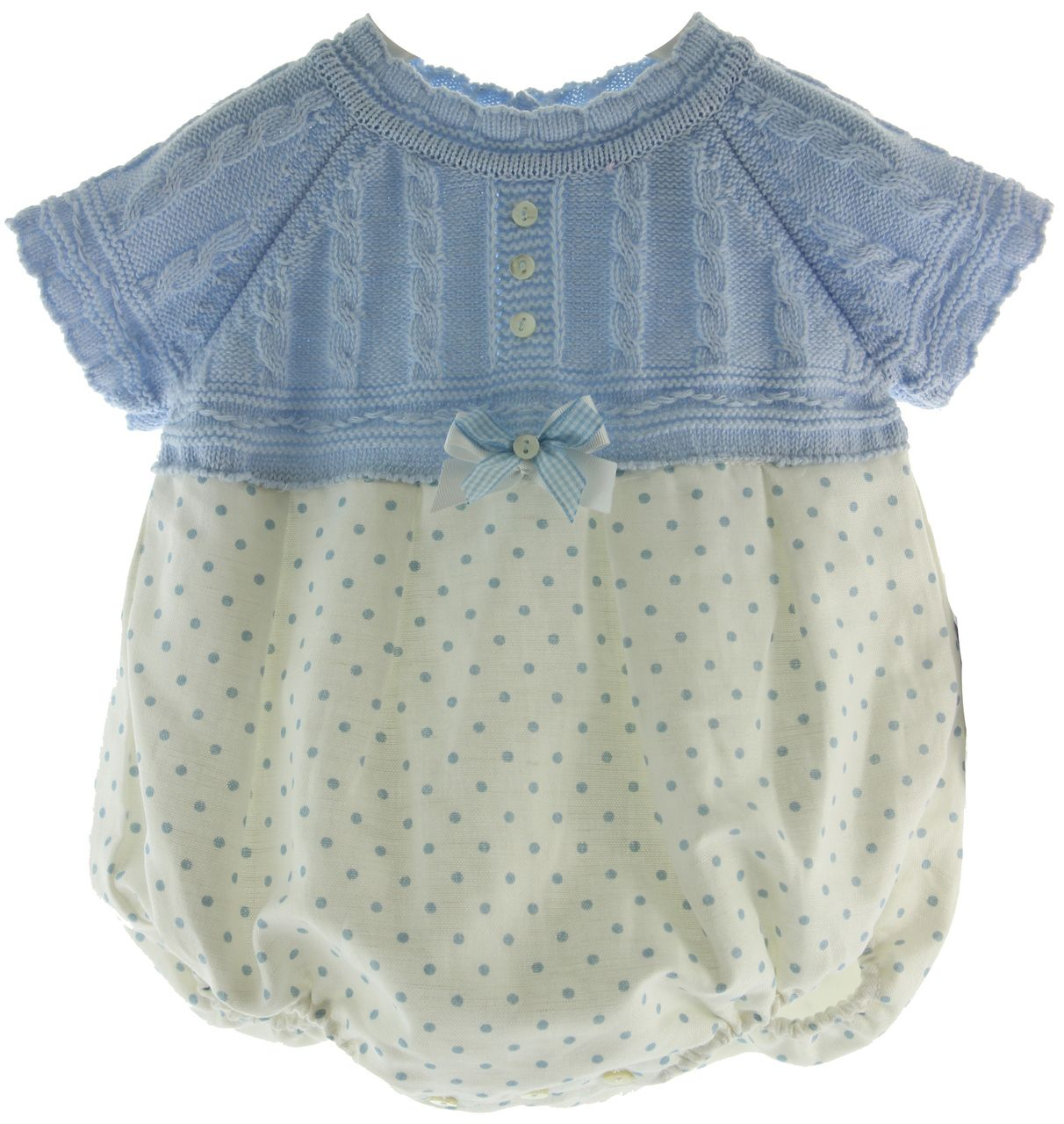 Hiccups Childrens Boutique - Baby Girls Blue White Polkadot Bubble Outfit Sarah Louise, $65.00 (https://www.hiccupschildrensboutique.com/baby-girls-blue-white-polkadot-bubble-outfit-sarah-louise/)
