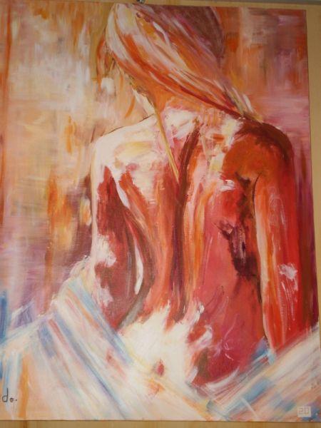 Tableau Peinture Nu Femme Dos Beaute Nus Acrylique Etre Soi