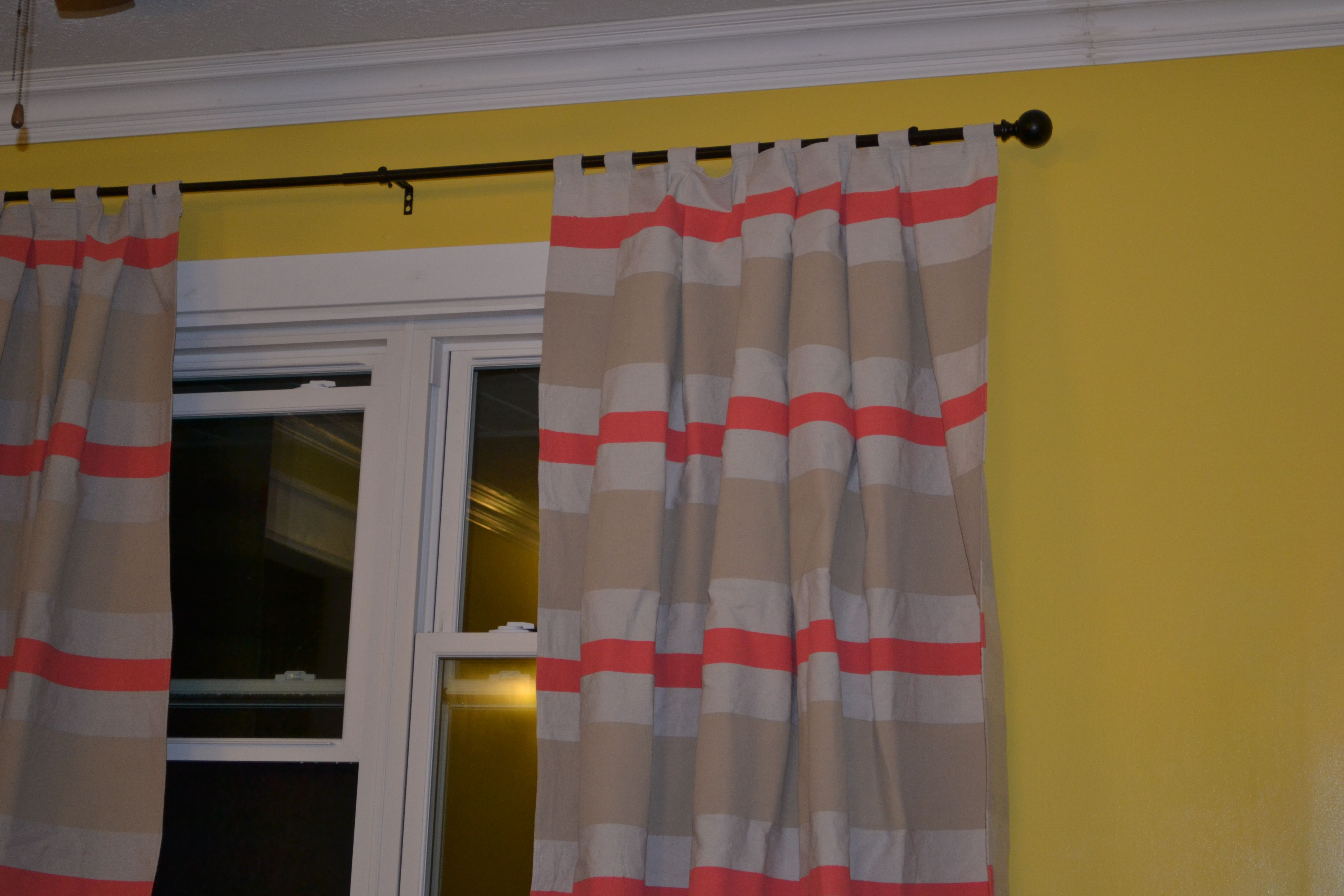 Drop Cloth Curtains Lowes Diy Painted Curtains Bought Canvas Drop Cloth From Lowes And