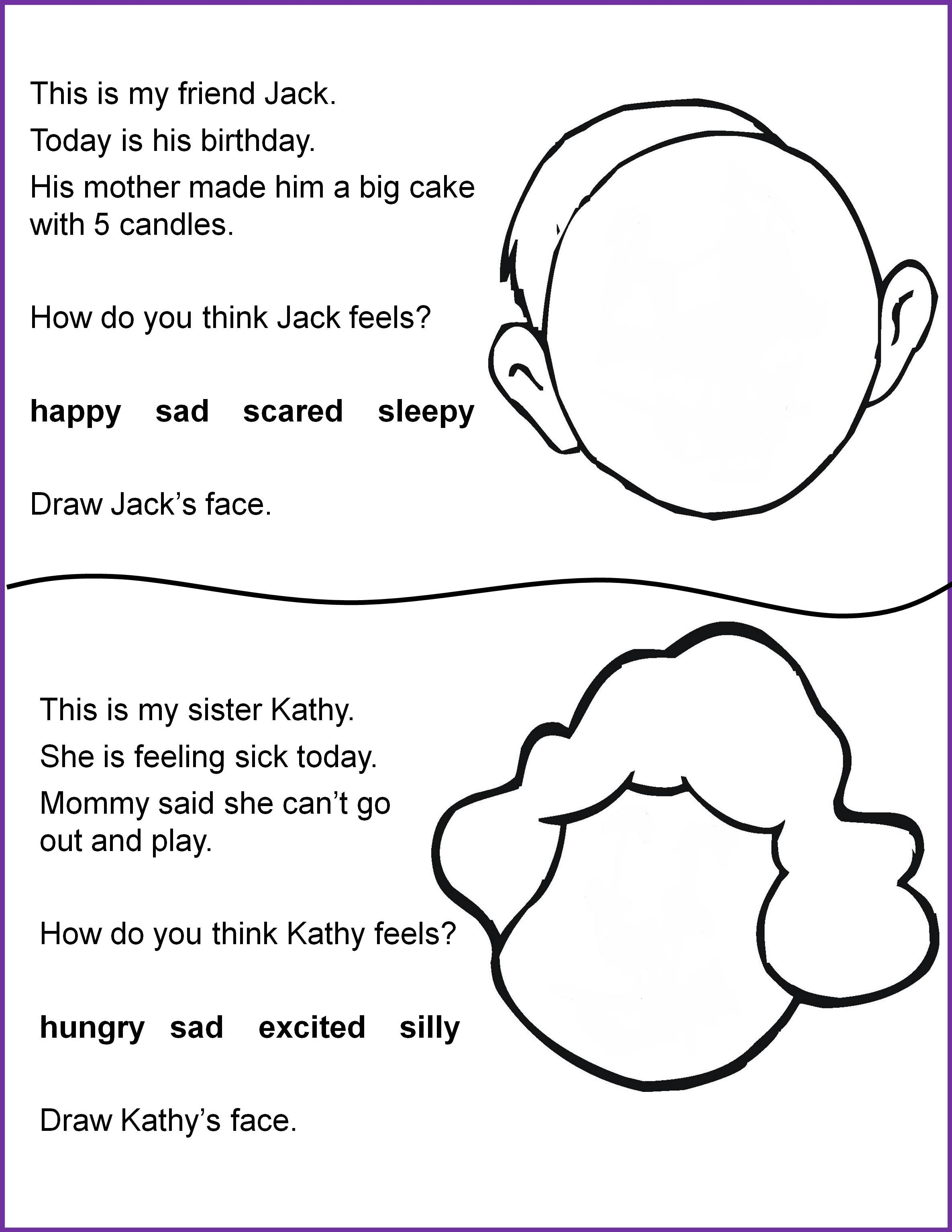 Reading And Following Directions Worksheets