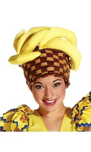 Banana Basket Hat - Mexican or Spanish Costume Accessories  700ad37ec15