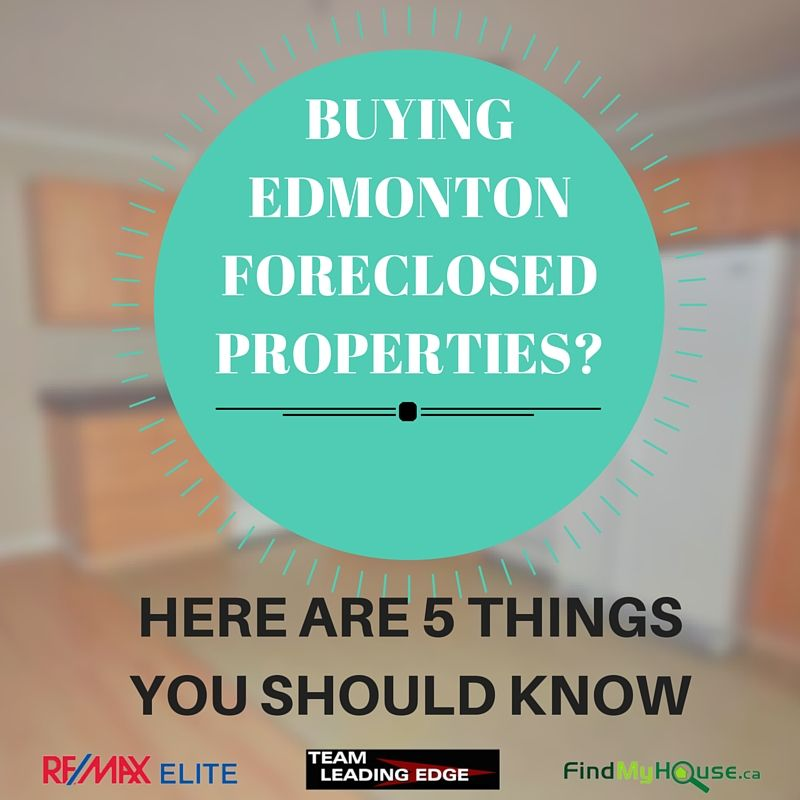 EDMONTON FORECLOSED PROPERTIES FOR SALE MLS LISTINGS