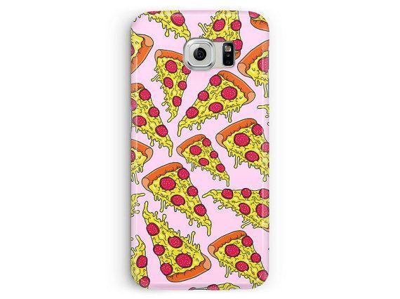 Samsung S6 Case, Pizza Phone Case, Pizza Samsung Case, Pizza pattern, S6 Cover, Samsung Galaxy S6 Case, S6 Edge Case, Pizza Party, Plastic