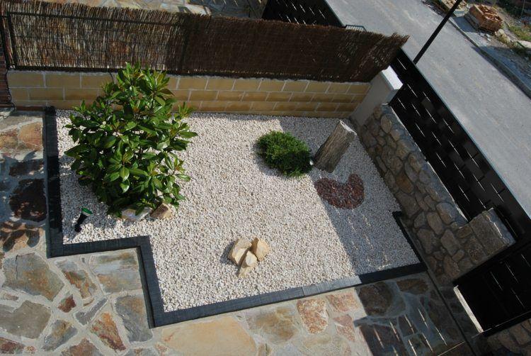 rocaille de jardin d'inspiration japonaise