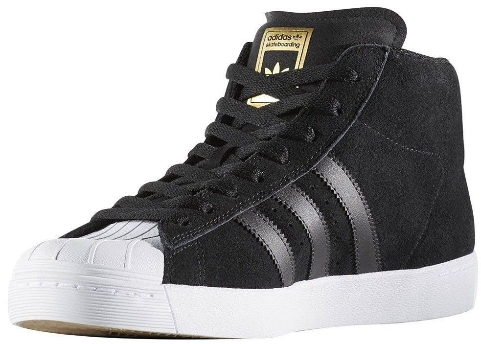 c9dbade82432bb ADIDAS PRO MODEL VULC SKATE SHOES NEW MEN S SIZE 11.5 BLACK GOLD WHITE