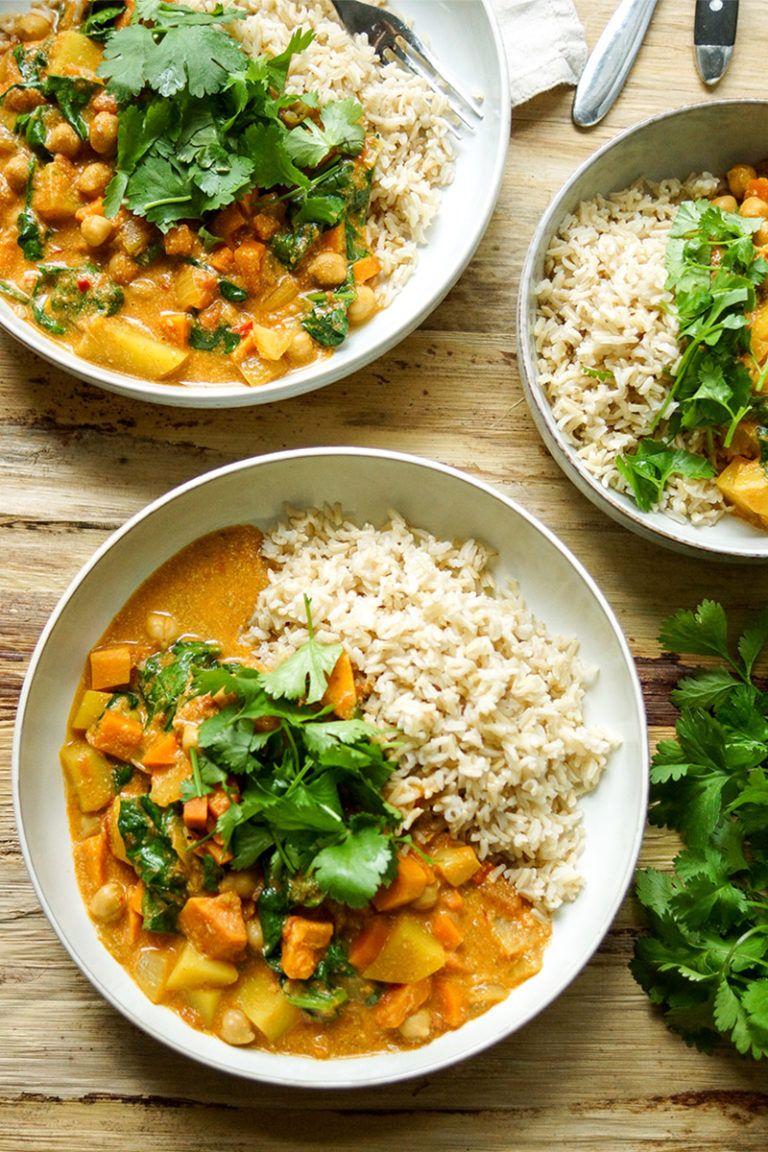 Cremiges Kokos Kichererbsen Curry mit Süßkartoffeln | Elle Republic #mexicanrecipeswithchicken
