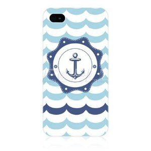 Ecell - HEAD CASE BLUE ANCHOR SEAFARER DESIGN HARD BACK CASE COVER FOR APPLE iPHONE 4 4S