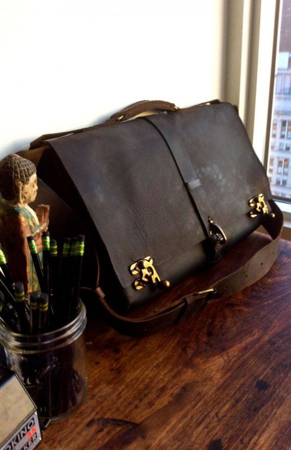 7d70ad6ffb28 Macchiato leather messenger large leather by LUSCIOUSLEATHERNYC goddamn  that s sexy.  leatherbriefcase  leather  briefcase  diy