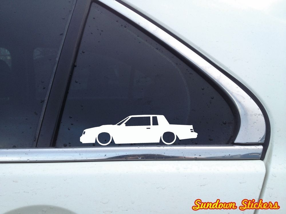 2X Lowered Low Buick Regal Grand national muscle car outline ...