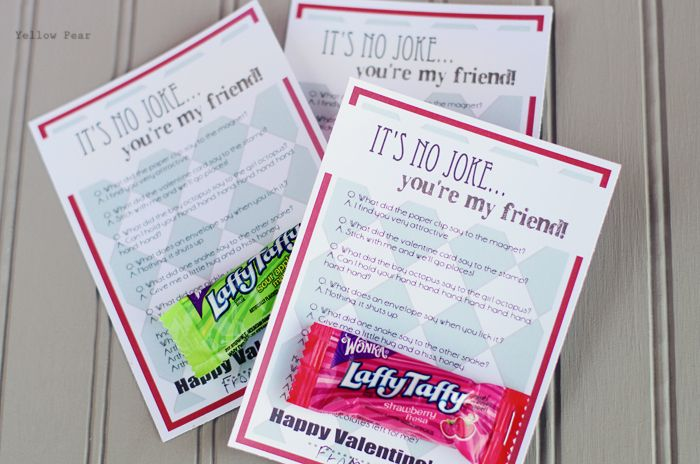 It's no Joke...Laffy Taffy | School Valentines - made with ...