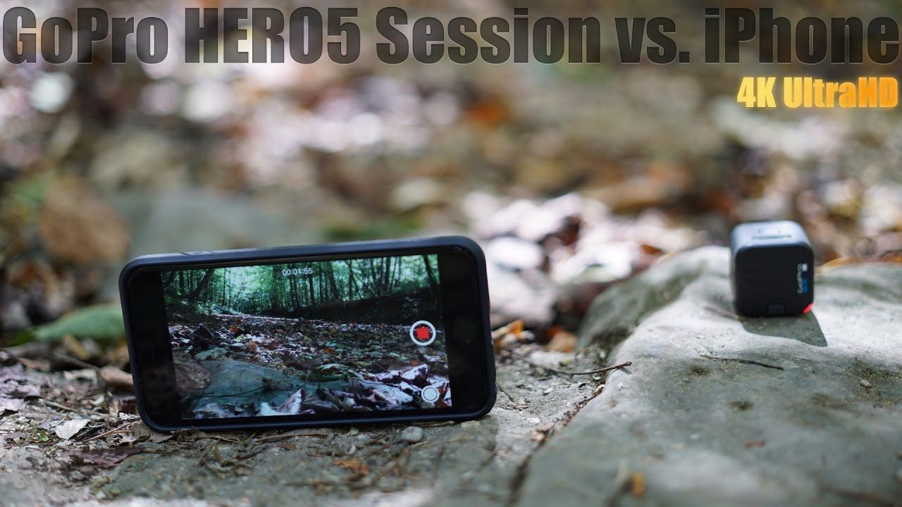 GoPro HERO5 Session Vs IPhone 6S Plus 4K Video Quality Test