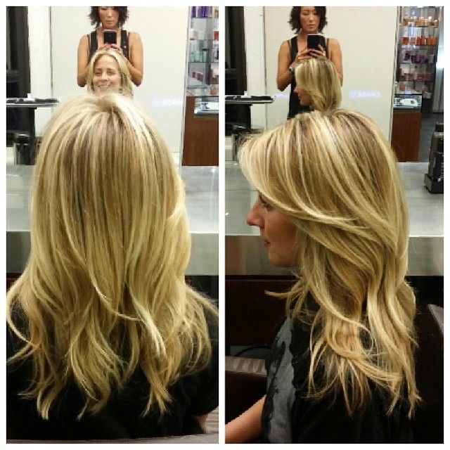 Blonde bright balayage highlights by Butterfly Studio color expert and Loreal professional artist Min Kim. Ps , amazing brows!
