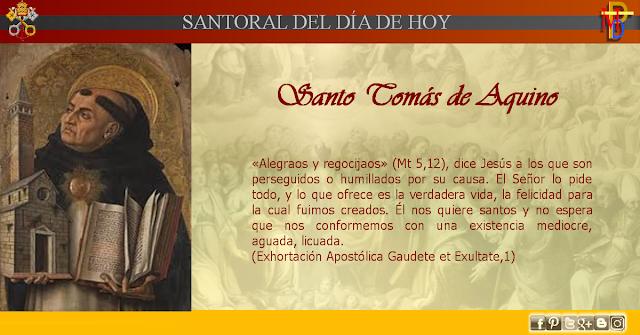 Misioneros De La Palabra Divina Santoral Santo Tomás De Aquino Santo Tomas De Aquino Santo Tomas Santoral