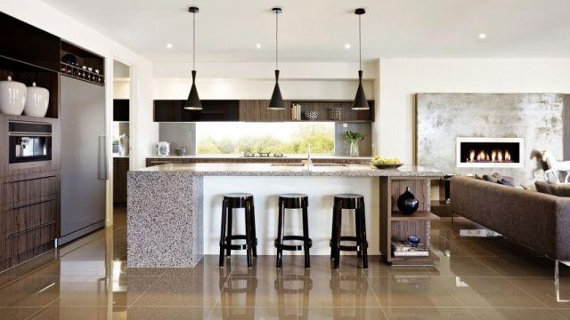 Superior Wohnküche Mit Kochinsel Einrichtung Ideen Essbereich Küchentheke Amazing Ideas