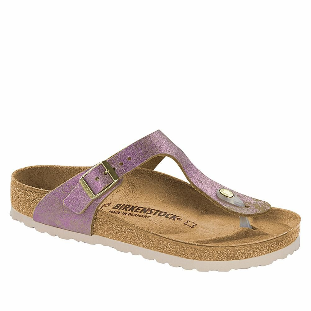 Birkenstock Gizeh Washed Metallic Thong Comfort Sandal