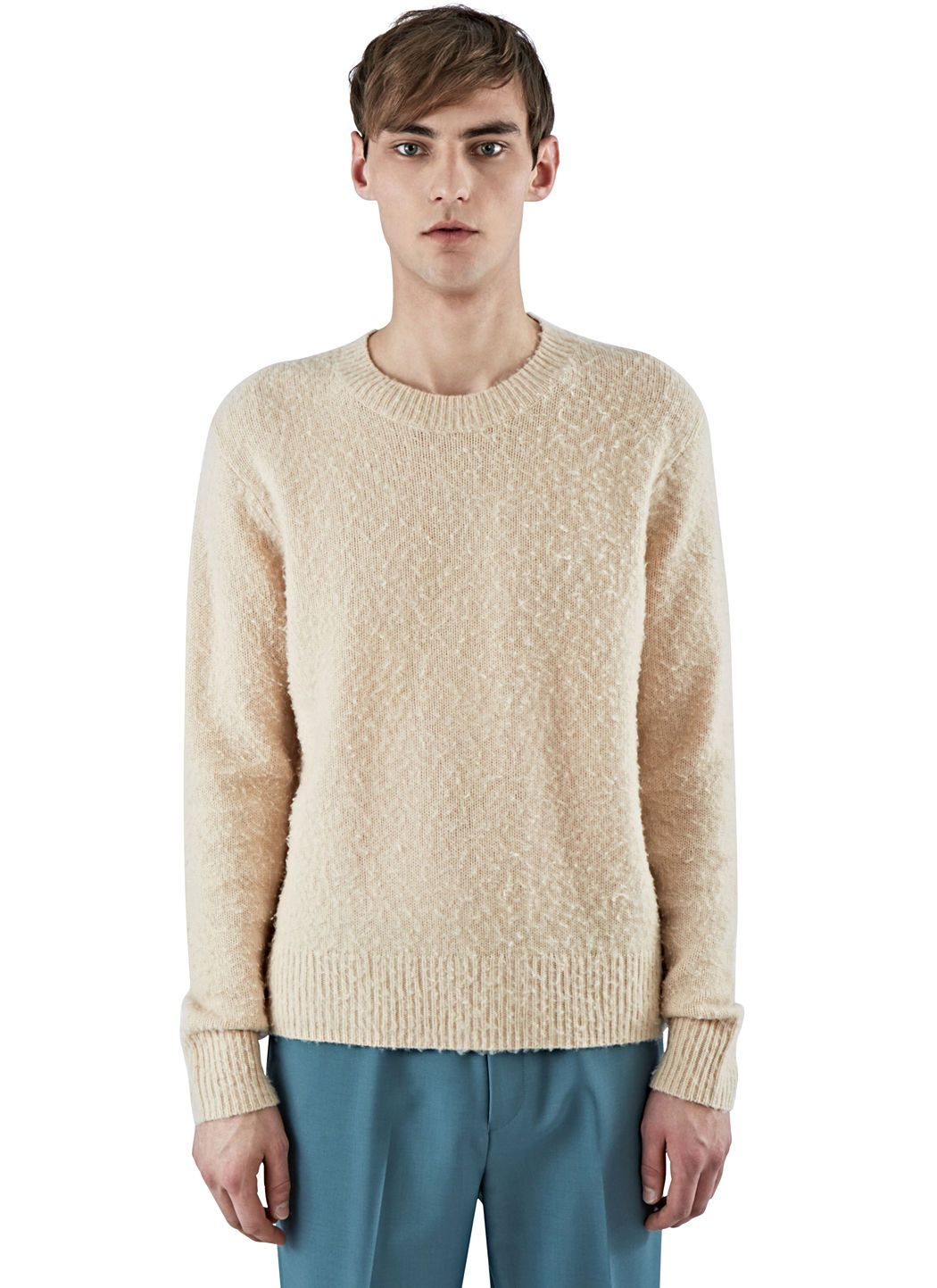 ACNE STUDIOS Men S Peele Cashmere Knit Sweater In Beige.  acnestudios  cloth    514fb1049e1
