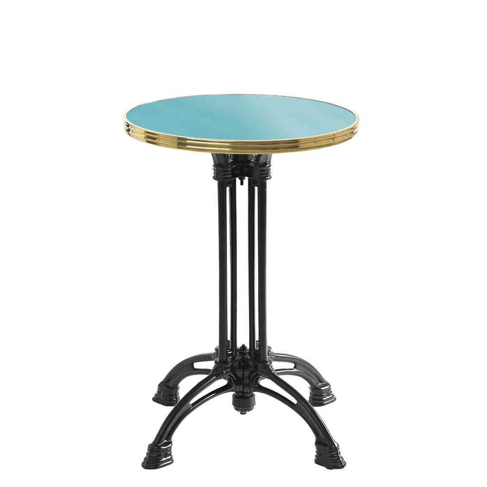 Table De Bistrot Ronde Emaillee Bleu Turquoise Gueridon Emaille Table Bistrot Table Bistrot Ronde Dessus De Table Diy