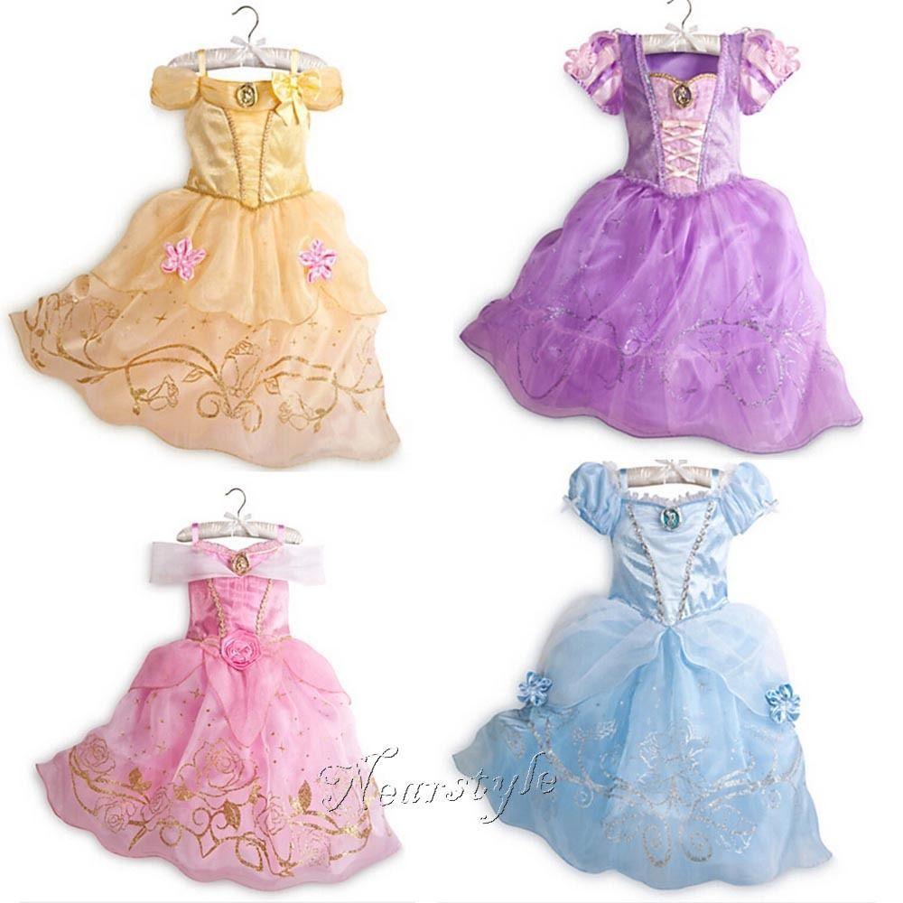 Kids Girls Princess Snow White Cinderella Cosplay Costume Fancy Dress Xmas Gifts