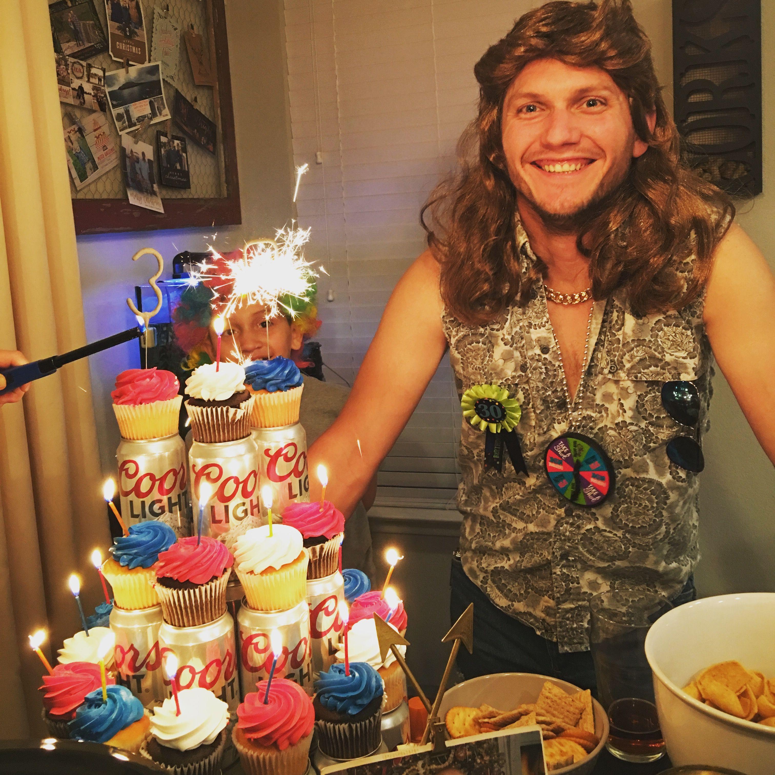 Beer Cake Beer Cupcakes Dirty Thirty Birthday White