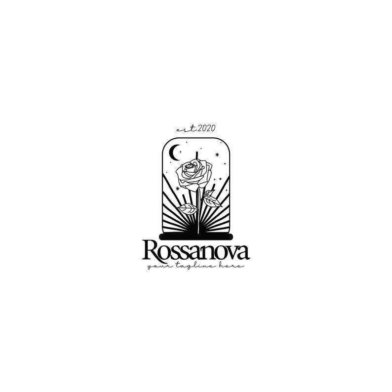 Premade Rose Logo Beauty And The Beast Logo Botanical Logo Etsy Premade Logo Design Beauty Logo Perfume Logo